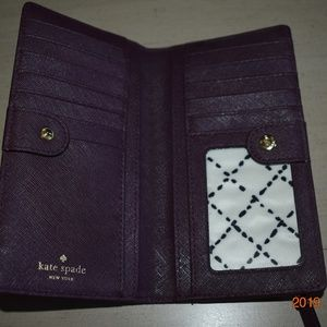 Kate Spade Bags - Kate Spade Plum Leather Stacy Wallet